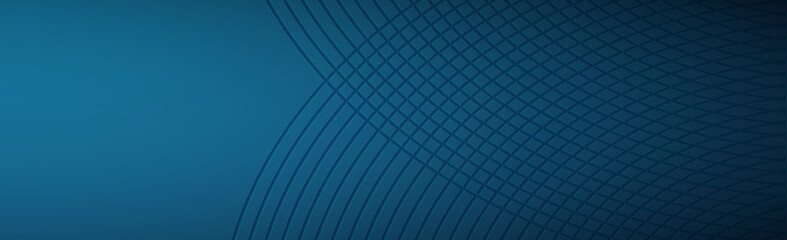 Volume lines on a blue background - Panoramic Vector Background