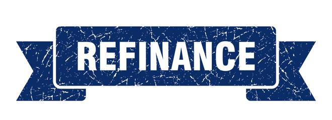 refinance ribbon. refinance grunge band sign. refinance banner