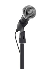 Microphone isolated on white background 3d rendering
