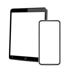 Tablet computer and smartphone template for adaptive design presentation