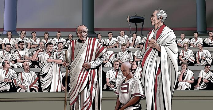 Ancient Rome - Quintus Fabius Maximus is commissioned by the Roman Senate