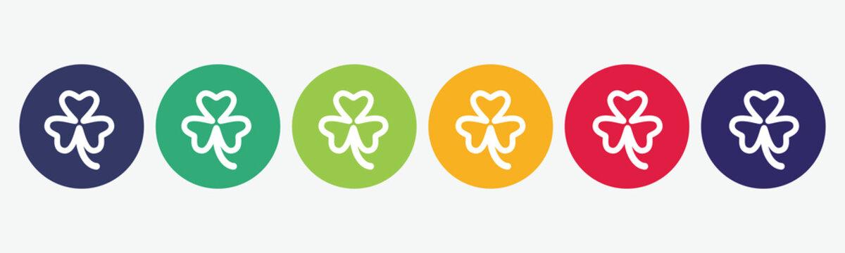 Big set of clover icon isolated on white background.