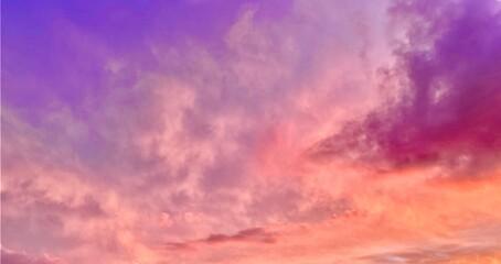 Photo sur Plexiglas Corail fréjus ciel nuage coché de soleil soir var nature rosé rose violet mauve