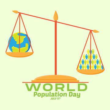 Vector illustration,banner or poster of world population day. world population day concept.