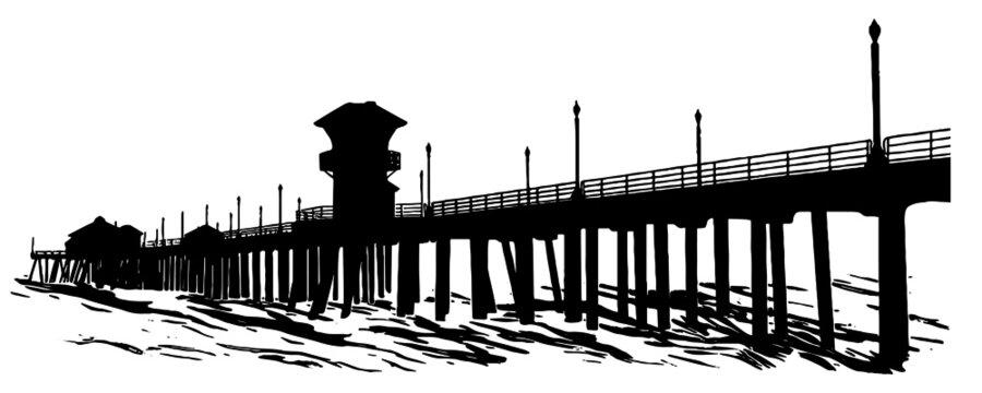 Pier over the ocean