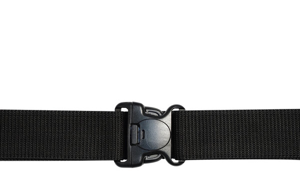 Black side release acculoc buckle plastic clasp quick nylon belt rope lock strap large detailed horizontal