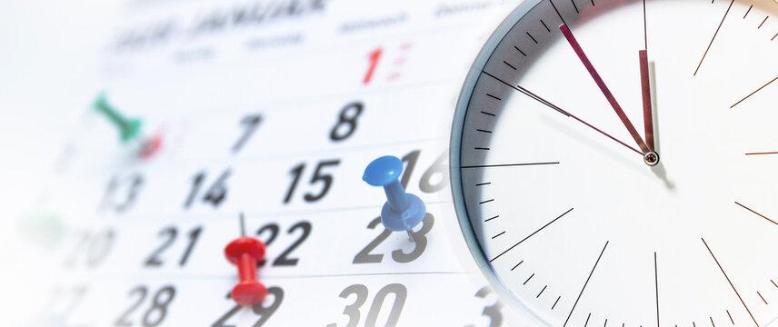 Clock , Time Management Concept, Time planning.