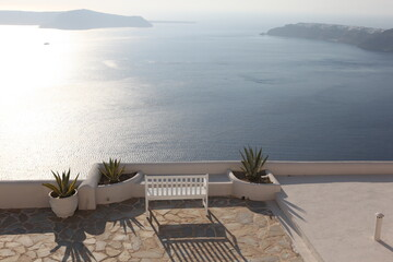 Papiers peints Taupe Santorini Grecja wyspa wulkan