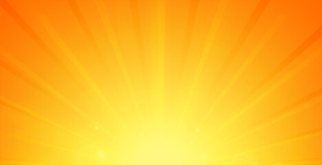 glowing rays background in orange color design