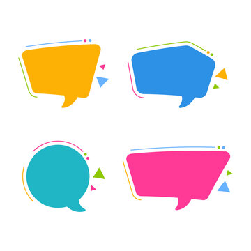 Callout Shapes Set Vector eps. 10