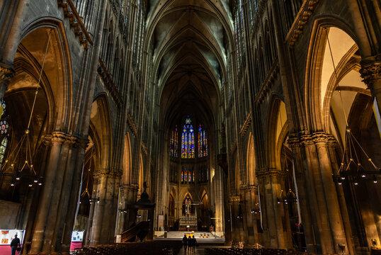 Nef de la cathédrale de Metz
