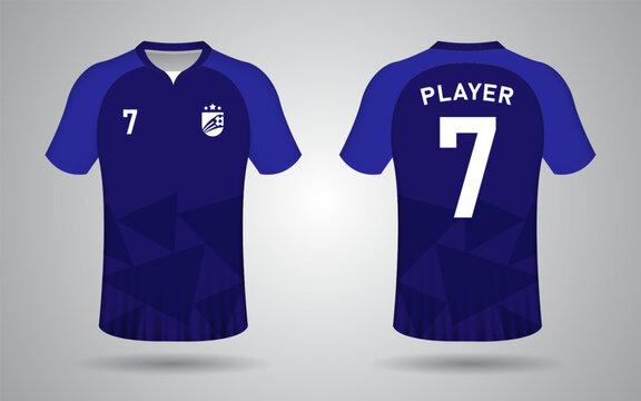 football jersey template dark blue