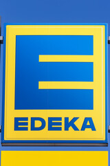 Edeka logo sign supermarket food shop discounter portrait format