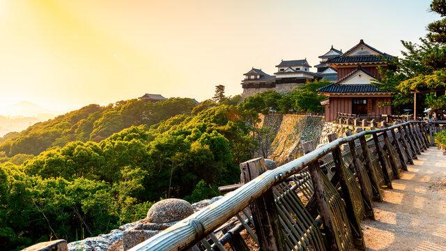 Ancient Matsuyama Castle in Matsuyama, Ehime, Japan