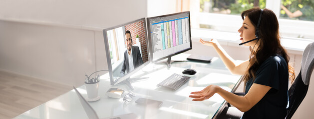 Online Video Conference Learning Call