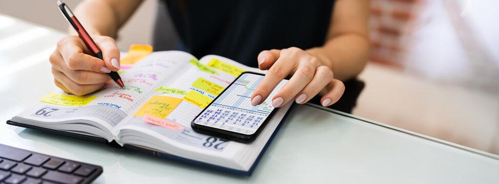 Task Calendar And Agenda Schedule