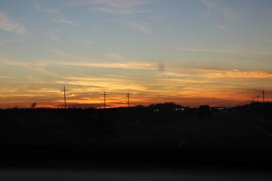 sunset in the city, sunset, sky, sun, clouds, sunrise, orange, nature, cloud, landscape, evening, silhouette, dusk, tower, city, red, light, blue, morning, beautiful, dawn, color