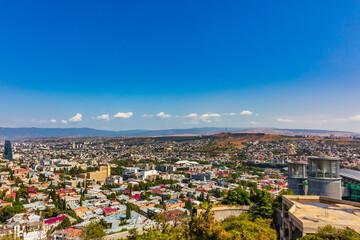 Keuken foto achterwand Oost Europa cityscape skyline of downtown Tbilisi Georgia capital city eastern Europe