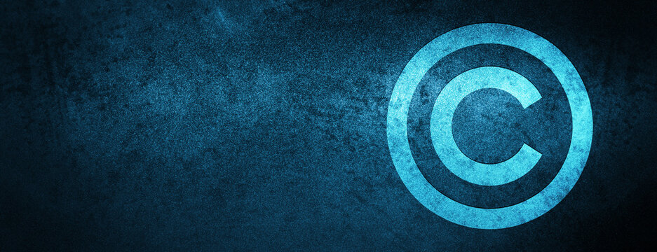 Copyright icon Special Blue Banner Background