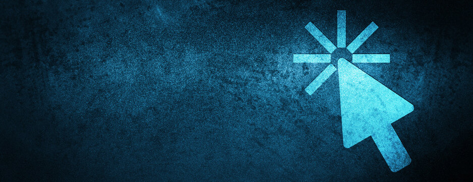 Click cursor icon Special Blue Banner Background