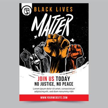 Black Lives Matter Raised Fist Flyer Design