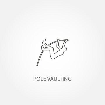 Pole vault vector icon