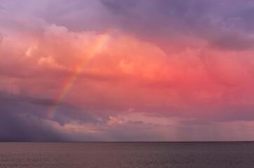 Papiers peints Corail Arc-en-ciel sur la mer