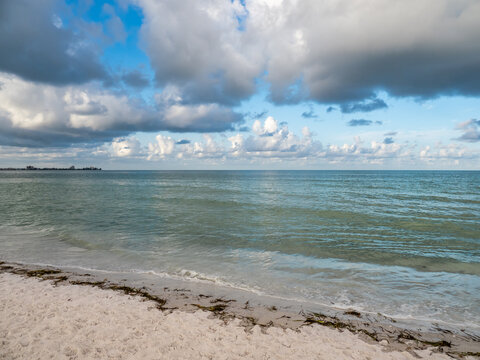 Gulf of Mexico Lido Beach on Lido Key In Sarasota Florida in the United States