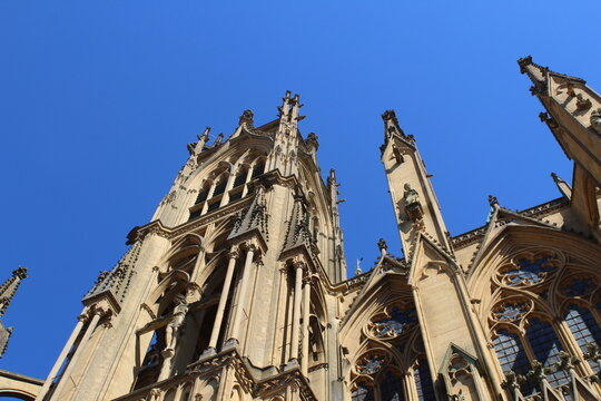 Katedrale von Metz im Sommer 2020, Metz, Frankreich