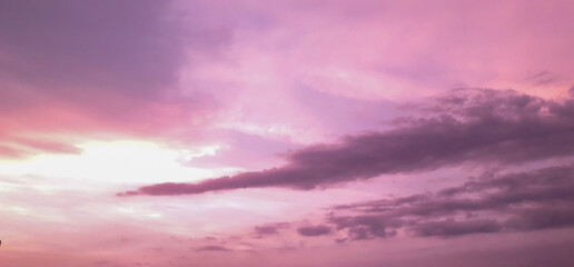 Foto op Canvas Candy roze Purple clouds in the sky