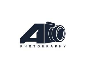 Initial Letter A Camera photography filmmaker logo design