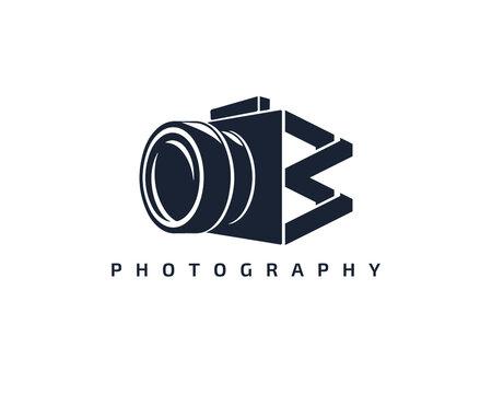 Initial Letter W Camera photography filmmaker logo design