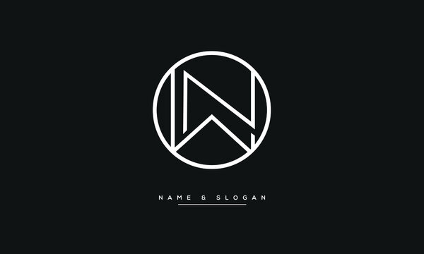 WN ,NW ,W,N  Abstract Letters Logo Monogram