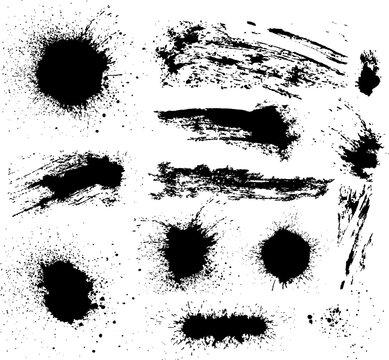 Vector set of grunge elements.