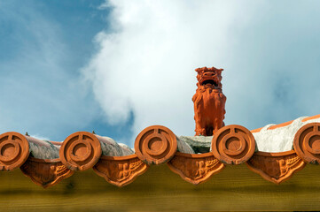 沖縄県 石垣島 琉球観音崎灯台展望台のシーサー