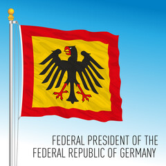 Presidential flag of Federal Republic of Germany, vector illustration