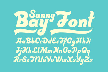 Bold script font with calligraphic brush shape