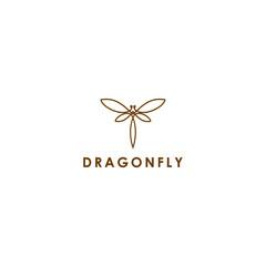 line art for dragonfly logo vector