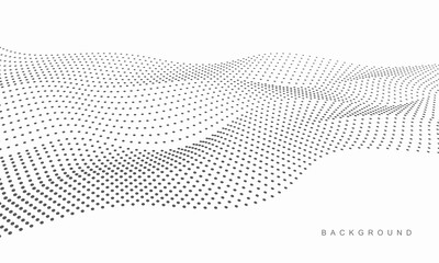 Poster Abstract wave Abstract vector halftone dots. Halftone wave dots background.