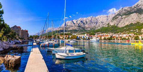 Famous Adriatic coast - Makarska riviera in Dalmatia. Croatia summer holidays