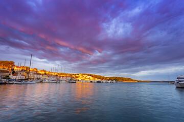 morning view of bay in Losinj island, Croatia.