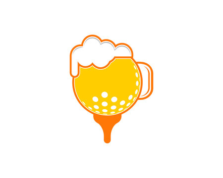 Collaboration golf ball with beer