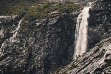 Wall Mural - Raw Norwegian Wilderness with the Waterfall
