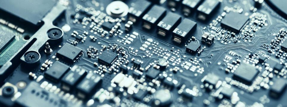 Chip of laptop, closeup