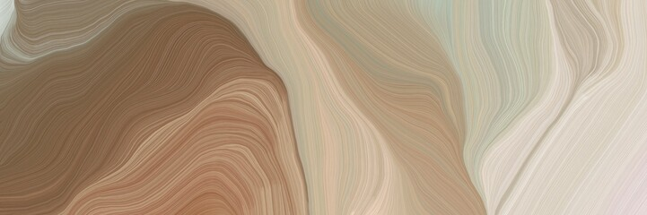 Obraz unobtrusive header with elegant curvy swirl waves background design with rosy brown, light gray and pastel brown color - fototapety do salonu