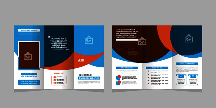 Corporate creative business bifold brochure template