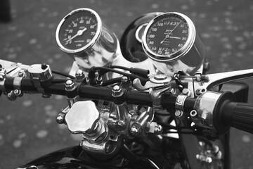 Photo sur Plexiglas Velo Close-up Of Vintage Motorcycle