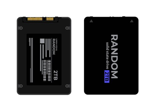 Ssd Solid state drive vector