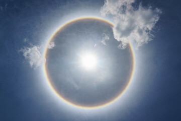 Sun Halo Above The Sky