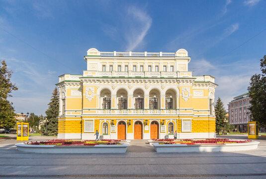 Drama Theater in Nizhny Novgorod on a sunny morning